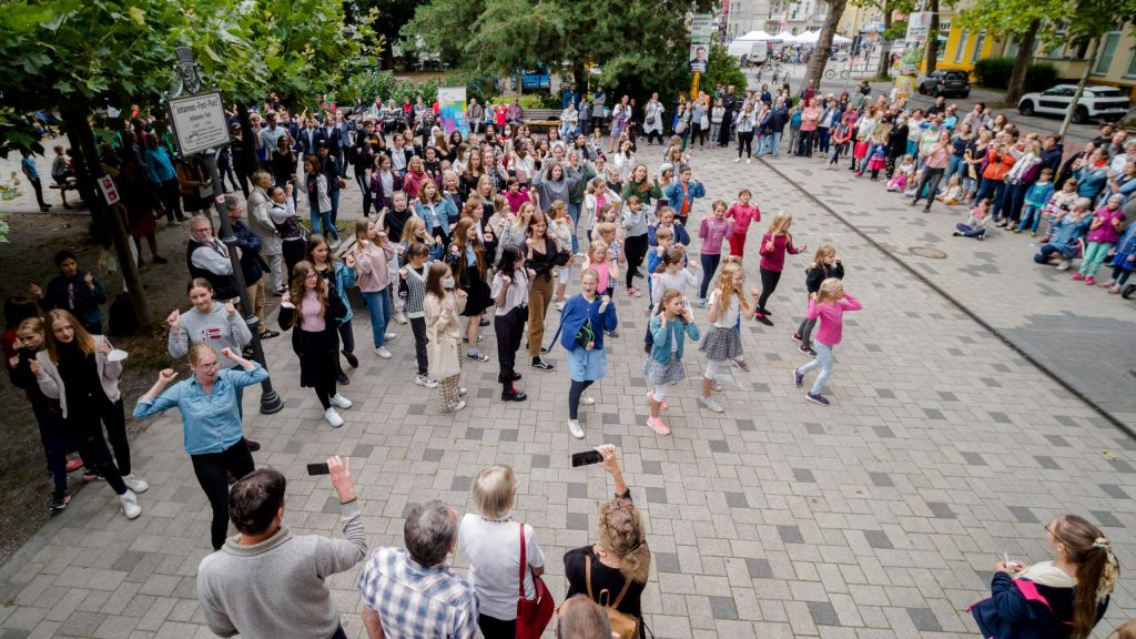 Flashmob zum 40-jährigen Jubiläum